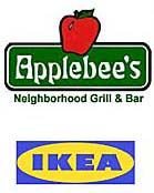 Applebee's and IKEA